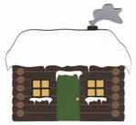 Cabin With Snow Laser Die Cut