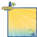 California Travels: CA On Beach Time 2 Piece Laser Die Cut Kit