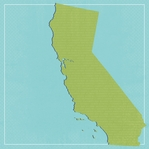 California Travels: CA State 12 x 12 Paper