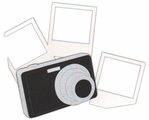Camera And Photo Frames Page Corner Laser Die Cut