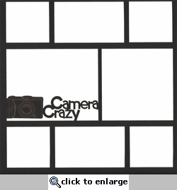 Camera Crazy 12 x 12 Overlay Laser Die Cut