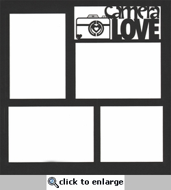 Camera Love 12 x 12 Overlay Laser Die Cut