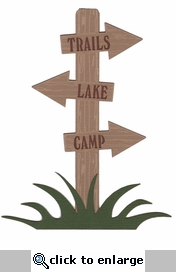 Camp Sign Laser Die Cut