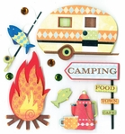 CAMPING DIMENSIONAL STICKER