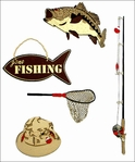 Camping & Outdoors: Gone Fishin' Minis Laser Die Cut