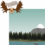 Canadian Adventure: Canadian Adventure 2 Piece Laser Die Cut Kit