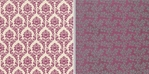 Canvas Fabrications: Plum Damask 12 x 12 Double-Sided Paper