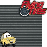 Car Land: Flying Tires 2 Piece Laser Die Cut Kit