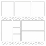Card Suits 12 x 12 Overlay Laser Die Cut