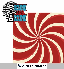 Carnival Fun: Round And Round 2 Piece Laser Die Cut Kit