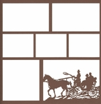 Carriage Ride 12 x 12 Overlay Laser Die Cut