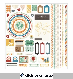 Carte Postale: Element Cardstock Stickers