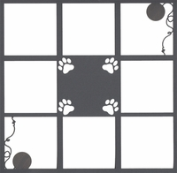 Cat 12 x 12 Overlay Laser Die Cut
