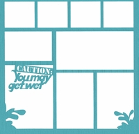 Caution:You May Get Wet 12 x 12 Overlay Laser Die Cut