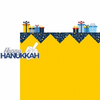 Celebrate Hanukkah: Happy Hanukkah 2 Piece Laser Die Cut Kit