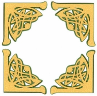 Celtic Photo Corners Laser Die Cut