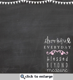 Chalk It Up: Blessed Beyond Meaure 12 x 12 Paper