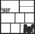 Character Dining 12 x 12 Overlay Laser Die Cut
