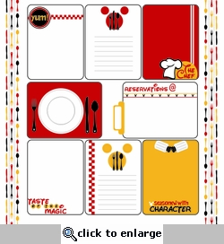 Character Dining: Journaling Cards 12 x 12 Paper