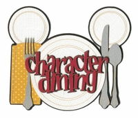 Character Dining Laser Die Cut