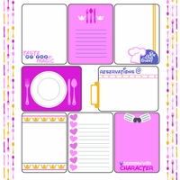 Character Dining: Princess Journaling Cards 12 x 12 Paper