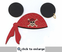 Character Pirate Hat Red Laser Die Cut