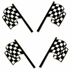 Checkered Flags Laser Die Cut Multi-Pack