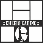 Cheer 12 x 12 Overlay Laser Die Cut