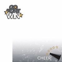 Cheer: go fight win 2 Piece Laser Die Cut Kit