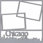 Chicago Skyline 12 x 12 Overlay Laser Die Cut