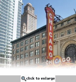 Chicago: The Chicago Theatre 12 x 12 Paper