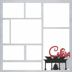 China Theme Park 12 x 12 Overlay Laser Die Cut