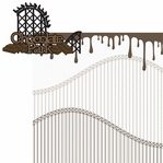 Chocolate World: Chocolate Park 2 Piece Laser Die Cut Kit