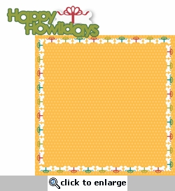 Christmas Cheer: Happy Howlidays 2 Piece Laser Die Cut Kit