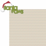 Christmas Cheer: Santa Paws 2 Piece Laser Die Cut Kit