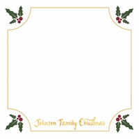 Christmas Holly Custom 12 x 12 Paper