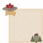 Christmas Joy: Together with Family 2 Piece Laser Die Cut Kit