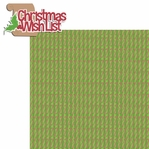 Christmas Memories: Christmas Wishlist 2 Piece Laser Die Cut Kit