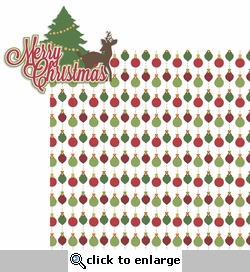Christmas Time: Merry Christmas 2 Piece Laser Die Cut Kit