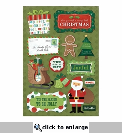 Christmas: 'Tis The Season Cardstock Stickers