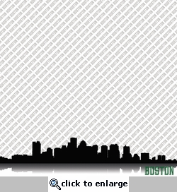 Cityscape: Boston 12 x 12 Paper