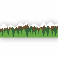 Climb Every Mountain: Mountains Border Laser Die Cut
