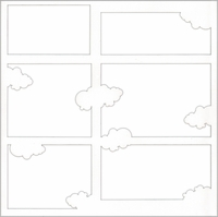 Clouds 12 x 12 Overlay Laser Die Cut