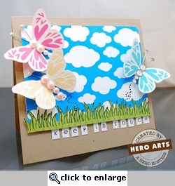 Clouds by Hero Arts Layout # 1-<font color=red><b>NOT FOR SALE</b></font>