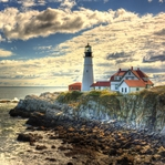 Coastal Destinations: Portland Headlight 12 x 12 Paper