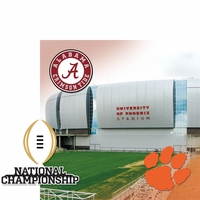 College Bowl: CFP Championship 2 Piece Laser Die Cut Kit