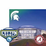 College Bowl: Cotton Bowl 2 Piece Laser Die Cut Kit