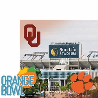 College Bowl: Orange Bowl 2 Piece Laser Die Cut Kit