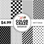 Color Craze Assorted Pattern Pack - Black
