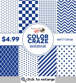 Color Craze Assorted Pattern Pack - Blue